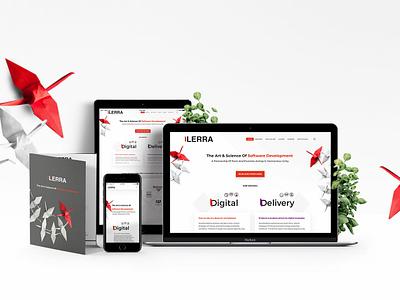 Ilerra website design landing page illustration red responsive ui ux design ui  ux