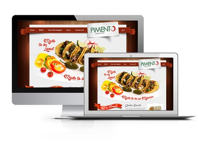 Pimento ux ui design mexican taco webdesign uiue