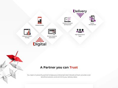 Ilerra service design website concept ui technical illustrator service concept website