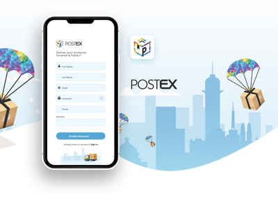 postex app UI ux design ui courier comingsoon courier app ui courier app ui