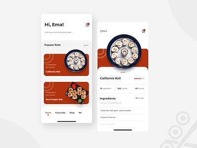 Sushi APP sushi app design ui design ux design comingsoon ui