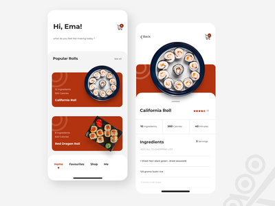 Sushi app design graphic design illustration ux comingsoon ui
