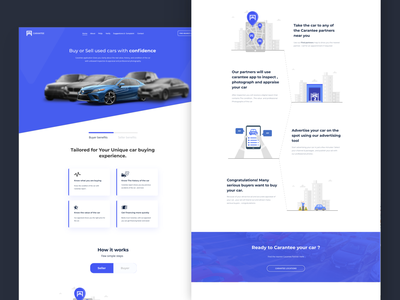 Carantee App landing page vehicle car landing page landing website design website uxui ux app vector comingsoon graphic design ui
