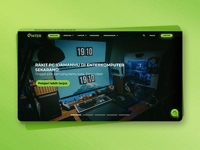 Computer Store Website - Landing Page Redesign green ux landing page design landing page color clean ui vector design