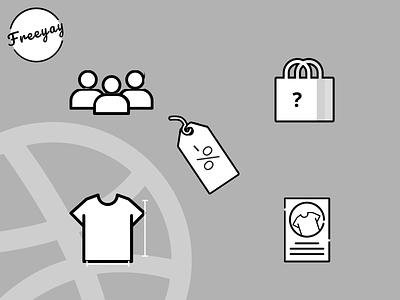 Clothing Brand - Freeyay illustration logo branding design