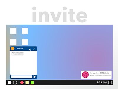 Dribble Invite dribbble invite vector ui illustration design