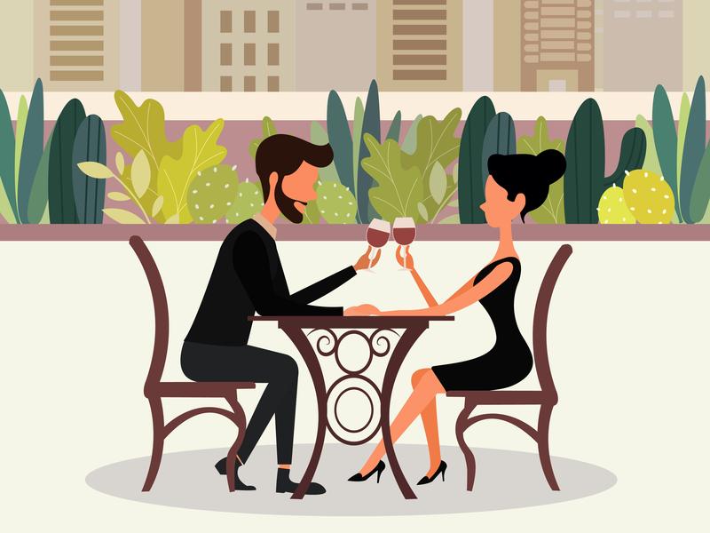 Couple illustration romantic dating couples couple illustration vector minimal illustrator illustration flat design creative character branding animation