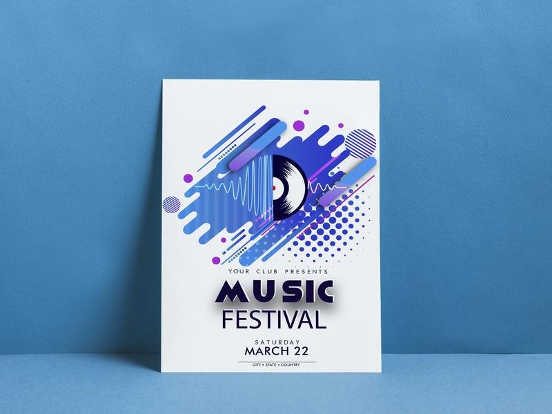 Music festival  Flyer musicfest musicfestival advertising poster print music poster music flyer music flyer advertisement character design creative illustration