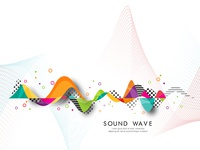 Abstract  sound wave