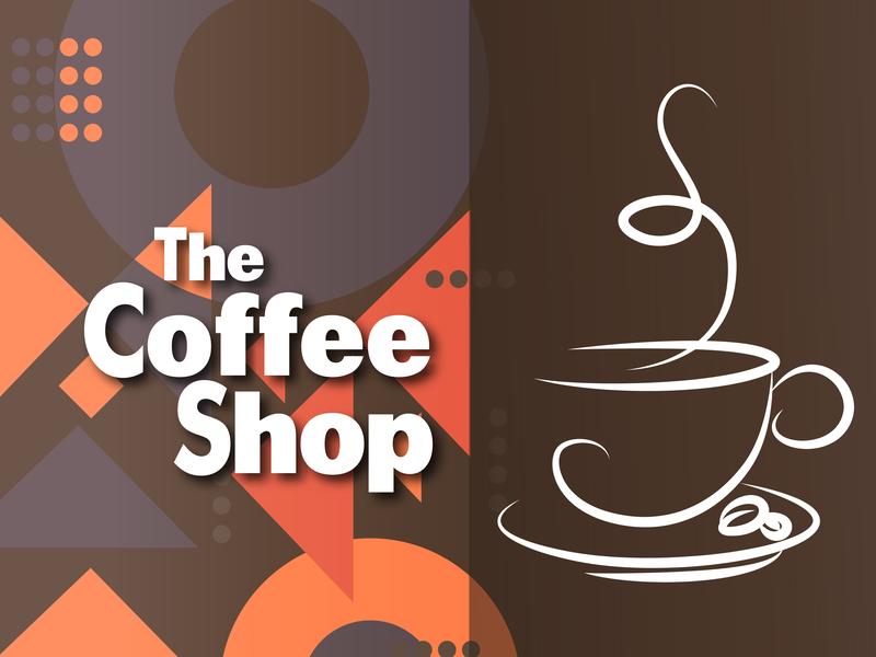 The Coffee Shop shop coffee abstact digitalartist digitalpainting art branding flat poster character abstract advertising advertisement minimal illustrator vector creative design illustration