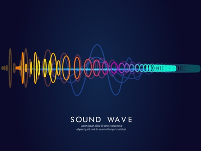 New Sound Wave minimal illustrator poster art branding background design sound design sound wave sound abstract abstact digitalartist advertisement advertising vector creative design illustration