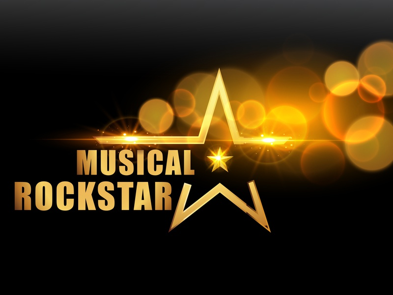 Music Rockstar logo music player rock star music flyer typography poster art flat abstact digitalartist advertisement abstract advertising minimal illustrator vector creative design illustration