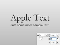 Apple styled text in Adobe Fireworks