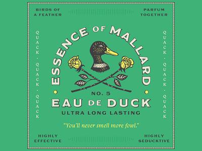 Essence of Mallard badge mallard duck typography branding logo