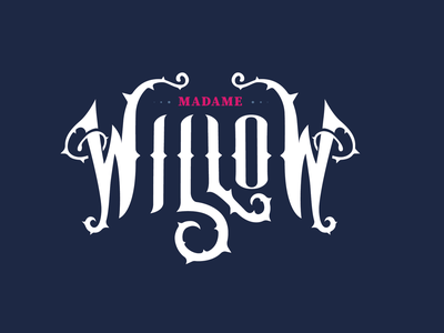 Madame Willow Logo branding magic thorns victorian logo