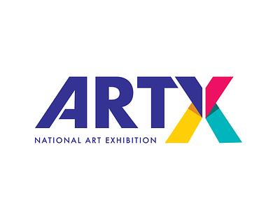 National Art Exhibition - Primary Mark branding logo vector