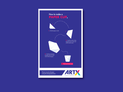"""""""How to"""" Poster Series - Paper Cup branding vector orogami"""