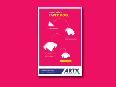 """""""How to"""" Poster Series - Paper Dog orogami branding vector"""