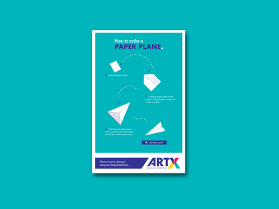 """""""How to"""" Poster Series - Paper Plane orogami branding vector"""