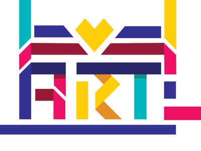 Art is ♡ typography branding vector