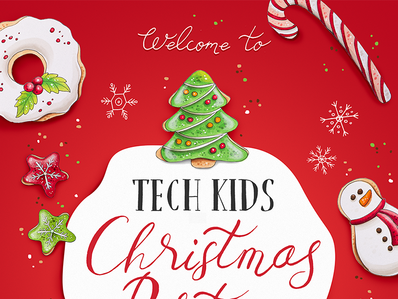 Kids Christmas Party poster by Elena Snezhinskaya - Dribbble