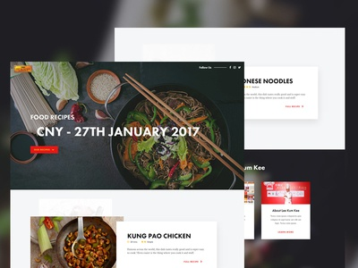 Landing Page Food Design