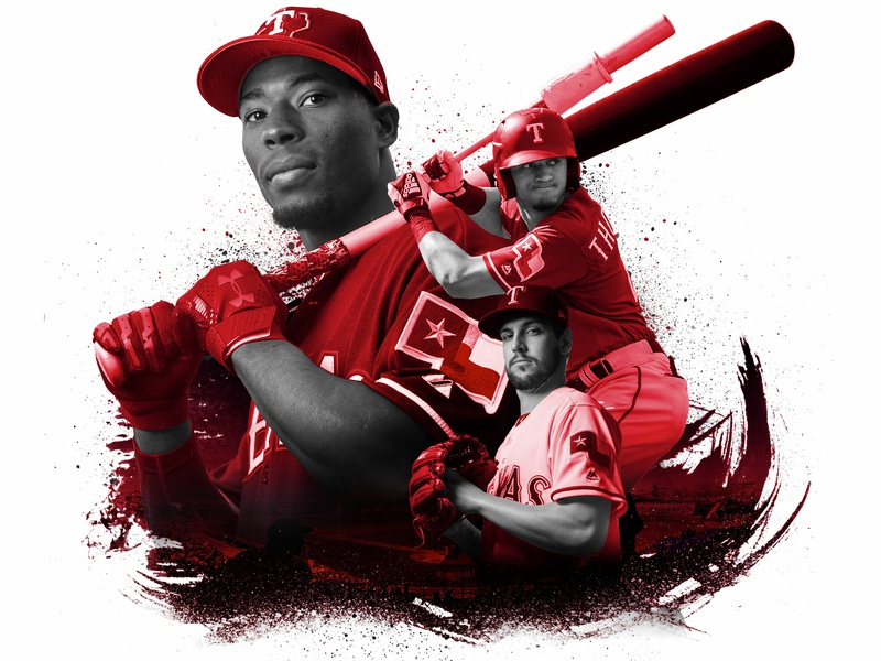 Rangers Prospects photo illustration mlb baseball