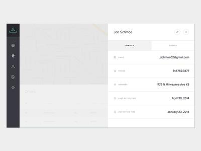 Dashboard - Driver Detail design website dashboard company brand clean ui simple startup minimal web