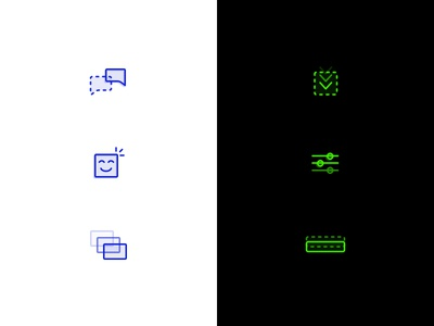 Icon Explorations color design clean simple icons icon