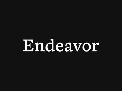 Endeavor Logo brand minimal travel typography logo