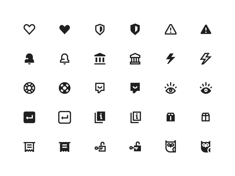 Braintree Icon Set braintree brand branding minimal icon set ui clean vector outline simple icons