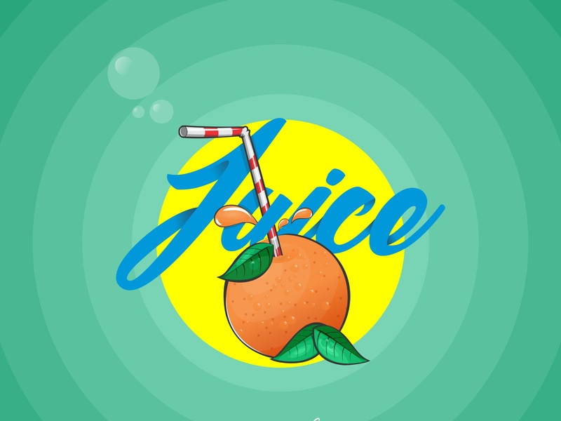 Juice lagos fun art wola thomas logo typography nigerian designer illustration graphic  design juice