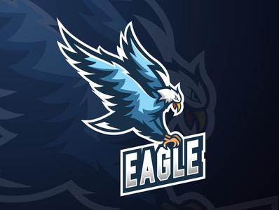 Eagle esport logo mascot