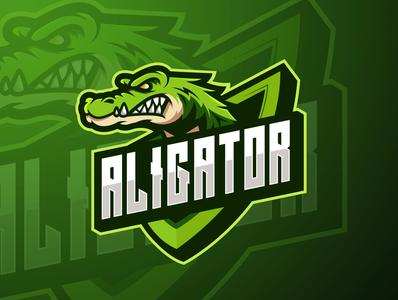 aligator mascot esport logo