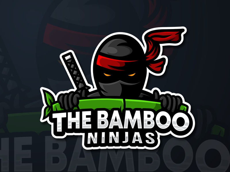 the bamboo ninjas mascot logo esport gaming mascot esport logo illustrator esport identity vector design illustration branding