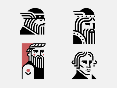 Some masculine guys viking tattoo beard man mark icon face illustration vector logodesign logo design branding