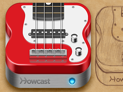 Howcast Bass Guitar bass guitar icon ios ipad iphone howcast sketch