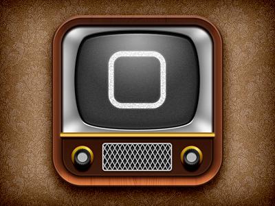 iTV ios tv vintage iphone ipad icon