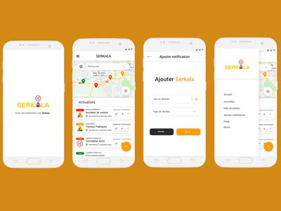 UI/UX App Design Serkala