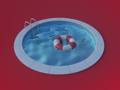Pool arnoldrender rende c4d arnold