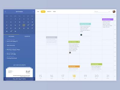 Smart Calendar UI schedule ux ui product design calendar