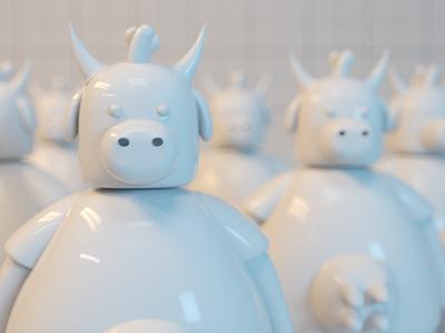 cow cgi artwork 3d illustration cgi render character 3d art cinema 4d