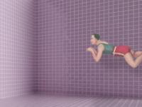 Empty pool, digital collage