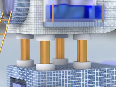 Building detail 3d asset maxon3d maxon 3d 3d art cinema 4d illustration design