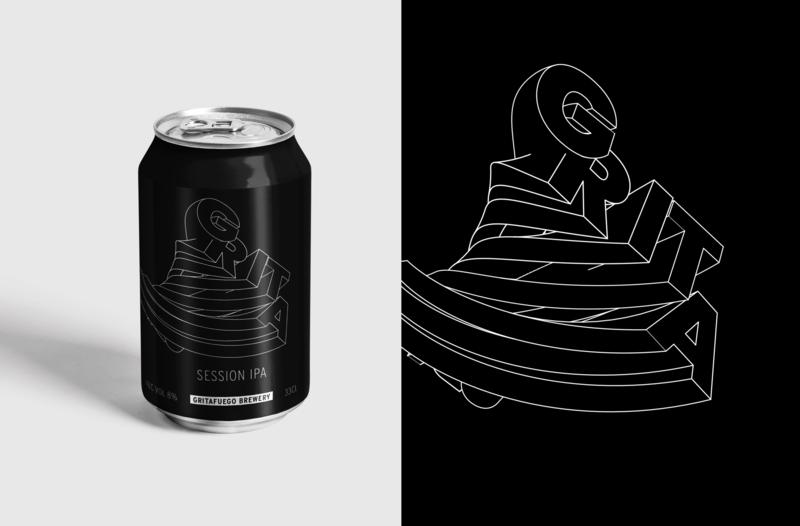 Grita Beer brand concept branding package package design packaging illustration design