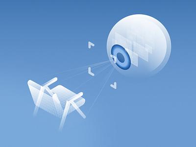 Computer Vision Illustration illustration computer vision vector isometric
