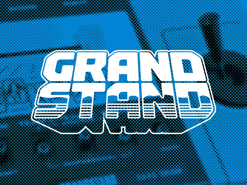 Grand Stand grand stand aviture obscure console gaming retro branding brand logo