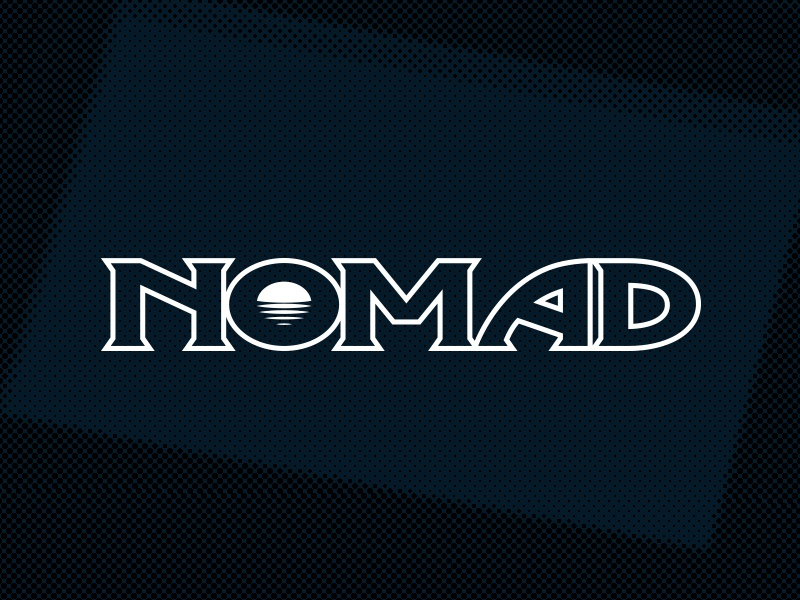 Nomad logo brand branding retro gaming console obscure aviture nomad