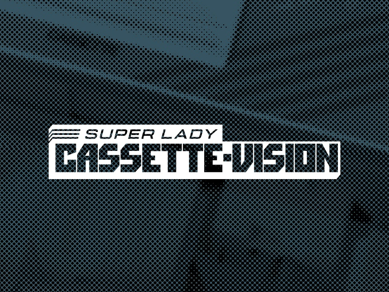 Super Lady Cassette Vision logo brand branding retro gaming console obscure aviture super lady cassette vision