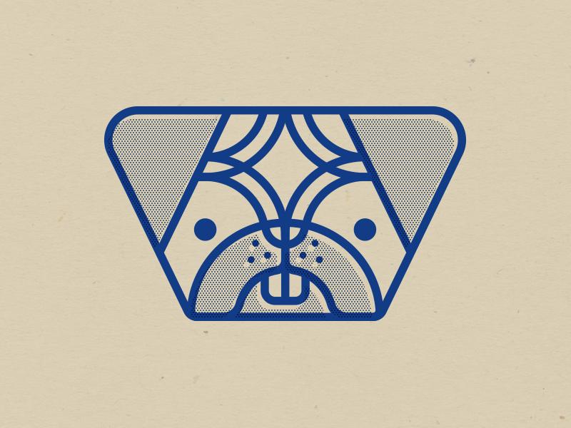 Geometric Ugly Pup offset screen print face animal dog geometric puppy pup pug